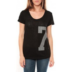 T-shirts manches courtes Tcqb Tee shirt SL1601 Noir