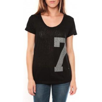Vêtements Femme T-shirts manches courtes Tcqb Tee shirt SL1601 Noir Noir