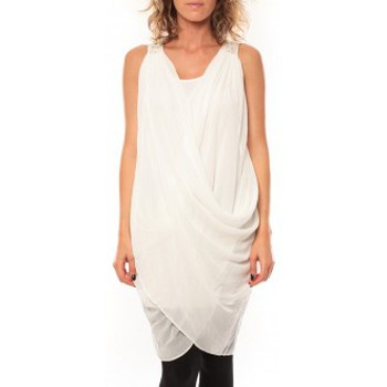 Vêtements Femme Robes By La Vitrine ROBE Blakie SL Short Dress  Blanc Blanc