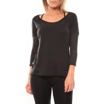 Vêtements Femme T-shirts manches longues Vero Moda Fiona 3/4 Top It 10108869 Noir Noir