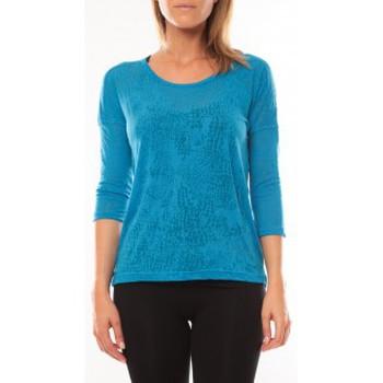 Vêtements Femme T-shirts manches longues Vero Moda Fiona 3/4 Top It 10108869 Bleu Bleu