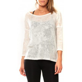Vêtements Femme T-shirts manches longues Vero Moda Fiona 3/4  Top It 10108869 Blanc Blanc