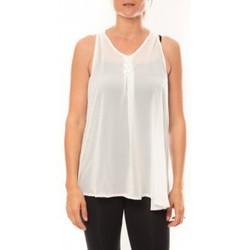 Vêtements Femme Débardeurs / T-shirts sans manche De Fil En Aiguille Débardeur may&co 882 Blanc Blanc