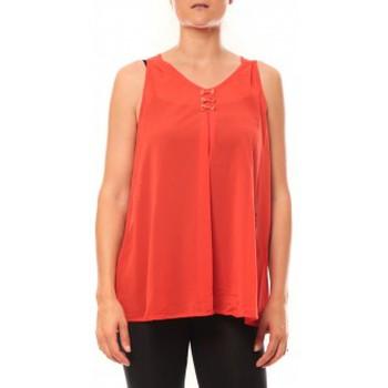 Vêtements Femme Débardeurs / T-shirts sans manche De Fil En Aiguille Débardeur may&co 882 Rouge Rouge