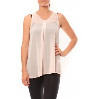 Vêtements Femme Débardeurs / T-shirts sans manche De Fil En Aiguille Débardeur may&co 882 Beige Beige