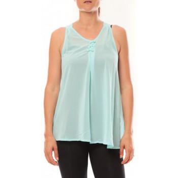 Vêtements Femme Débardeurs / T-shirts sans manche De Fil En Aiguille Débardeur may&co 882 Turquoise Bleu