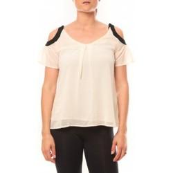 Vêtements Femme T-shirts manches courtes Comme Des Filles Comme des Garçons T-shirt Moni&Co 328 Beige Beige