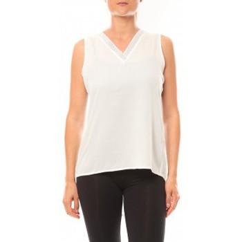 Vêtements Femme Débardeurs / T-shirts sans manche De Fil En Aiguille Débardeur Voyelle L147 Blanc Blanc