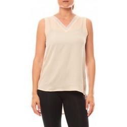 Vêtements Femme Débardeurs / T-shirts sans manche De Fil En Aiguille Débardeur Voyelle L147 Beige Beige