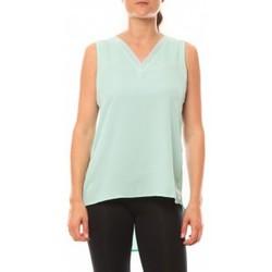 Vêtements Femme Débardeurs / T-shirts sans manche De Fil En Aiguille Débardeur Voyelle L147 Turquoise Bleu
