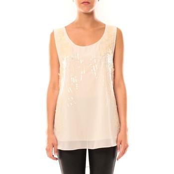 Vêtements Femme Débardeurs / T-shirts sans manche De Fil En Aiguille Débardeur Victoria & Karl MX0660 Rose poudre Rose