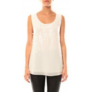 Vêtements Femme Débardeurs / T-shirts sans manche De Fil En Aiguille Débardeur Victoria & Karl MX0660 Beige Beige