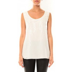 Vêtements Femme Débardeurs / T-shirts sans manche De Fil En Aiguille Débardeur Victoria & Karl MX0660 Blanc Blanc