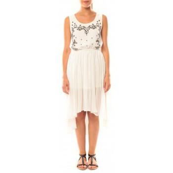 Vêtements Femme Robes De Fil En Aiguille Robe Victoria & Karl GH0012 Blanc Blanc