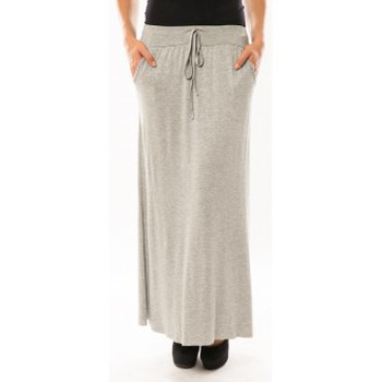 Vêtements Femme Jupes Sweet Company Jupe simple à poche Gris clair Gris