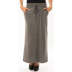 Vêtements Femme Jupes Sweet Company Jupe simple à poche Gris Foncé Gris