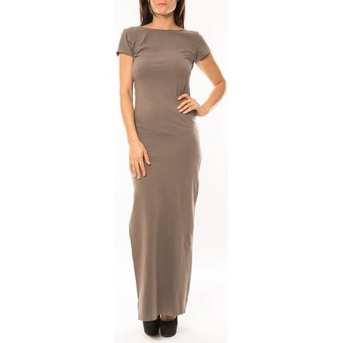 Vêtements Femme Robes longues Sweet Company Robe longue Fashion Beige Beige
