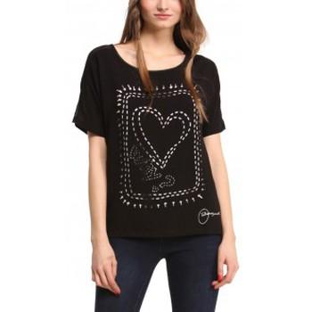 Vêtements Femme T-shirts manches courtes Desigual Haut Raquel 47B2330 Noir Noir