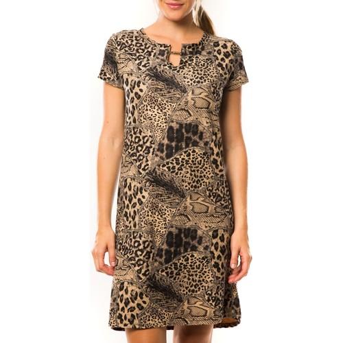 Vêtements Femme Robes courtes Nina Rocca Robe Z-305 Beige Beige