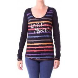 Vêtements Femme T-shirts manches longues Little Marcel T-shirt Tasoli ML H14IBF171 Noir Noir