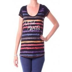 Vêtements Femme T-shirts manches longues Little Marcel T-shirt Tasoli H14IBF033 Noir Noir