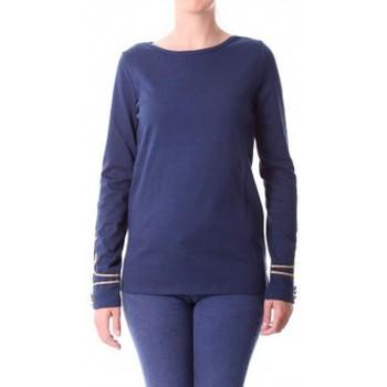 Vêtements Femme T-shirts manches longues Little Marcel T-shirt Tigalon H14IBF240 Bleu Bleu
