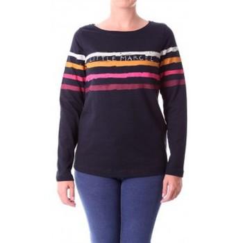 Vêtements Femme T-shirts manches longues Little Marcel T-shirt Tiprint Paint H14IBF190 Noir Noir