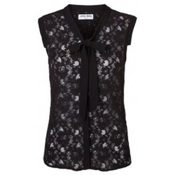 Vêtements Femme Débardeurs / T-shirts sans manche Vero Moda Tina SL Top 10116974 Noir Noir