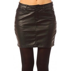Vêtements Femme Jupes Vero Moda Wonder NW Short PU Skirt 10117232 Noir Noir