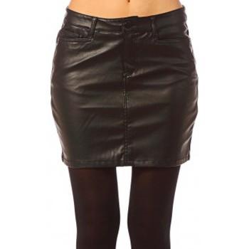 Vêtements Femme Jupes Vero Moda Wonder NW Short PU Skirt 10117232 Noir Noir