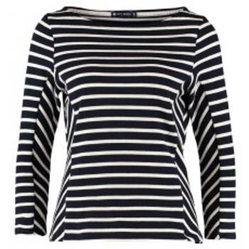 Vêtements Femme T-shirts manches longues Petit Bateau Marinière M7/8 1130549210 Bleu Bleu