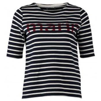 Vêtements Femme T-shirts manches courtes Petit Bateau Tee-shirt Marinière 1078949240 Bleu Bleu