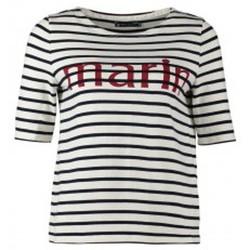 Vêtements Femme T-shirts manches courtes Petit Bateau Tee-shirt Marinière 1078949240 Blanc Blanc