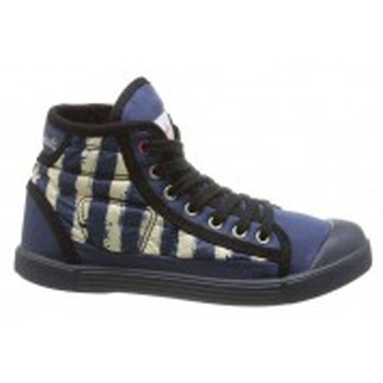 Chaussures Femme Baskets montantes Little Marcel Baskets Samba Up Stripes Bleu Bleu