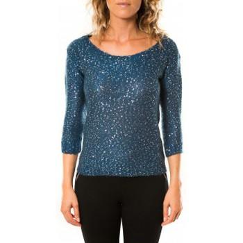 Vêtements Femme Pulls Vero Moda Shine 3/4 Boatneck 10122550 Marine Bleu