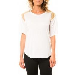 T-shirts manches courtes Coquelicot T-shirt CQTW14410 Blanc