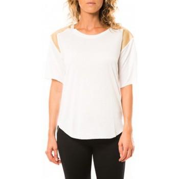 Vêtements Femme T-shirts manches courtes Coquelicot T-shirt CQTW14410 Blanc Blanc