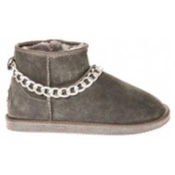 Chaussures Femme Boots Ilario Ferucci Bottes Teoman Gris Gris