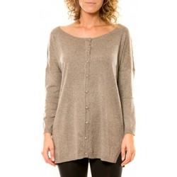 Vêtements Femme Gilets / Cardigans Vision De Reve Vision de Rêve Gilet 12026 Taupe Marron