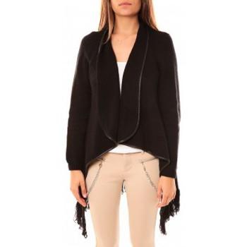 Vêtements Femme Gilets / Cardigans Tcqb Gilet Andy Noir Noir