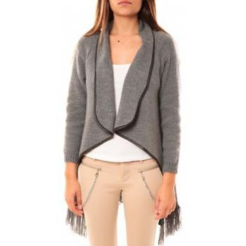 Vêtements Femme Gilets / Cardigans Tcqb Gilet Andy Gris Gris