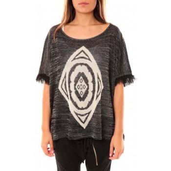 Vêtements Femme Pulls Tcqb Poncho Di&A 0196 Noir Noir