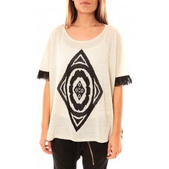 Vêtements Femme Pulls Tcqb Poncho Di&A 0196 Blanc Blanc