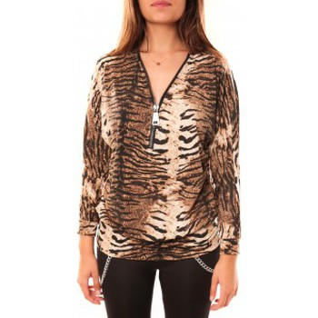 Vêtements Femme T-shirts manches longues Dress Code T-shirt May&CO 2529 Beige Beige