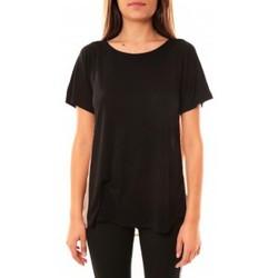 Vêtements Femme T-shirts manches courtes Coquelicot T-shirt CQTW14311 Noir Noir