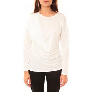 Vêtements Femme T-shirts manches longues Coquelicot T-shirt CQTW14303 Blanc Blanc