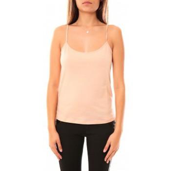 Vêtements Femme Débardeurs / T-shirts sans manche Coquelicot Débardeur CQTW14323 Beige Beige
