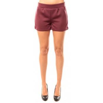 Vêtements Femme Shorts / Bermudas Coquelicot Short CQTW14617 Bordeaux Rouge