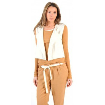 Vêtements Femme Gilets / Cardigans American Vintage GILET LEA134 NATUREL Beige
