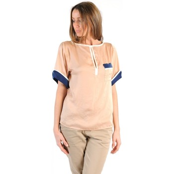 Vêtements Femme T-shirts manches courtes Tcqb TOP MIMOSA BEIGE Beige